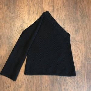 A.L.C. Black One Shoulder Wool Cashmere Sweater S